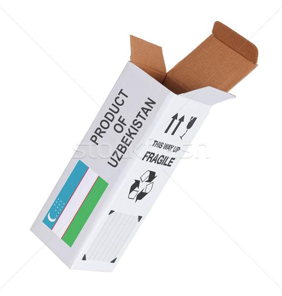 Exportar producto Uzbekistán papel cuadro Foto stock © michaklootwijk