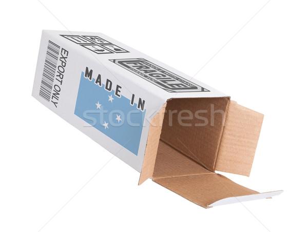 Exportar produto Micronésia papel caixa Foto stock © michaklootwijk