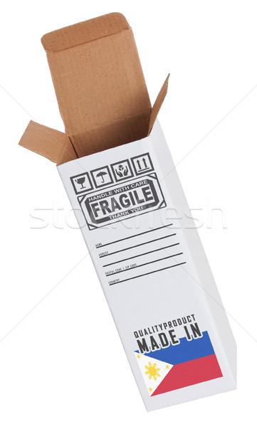 Exportar producto papel cuadro negocios Foto stock © michaklootwijk