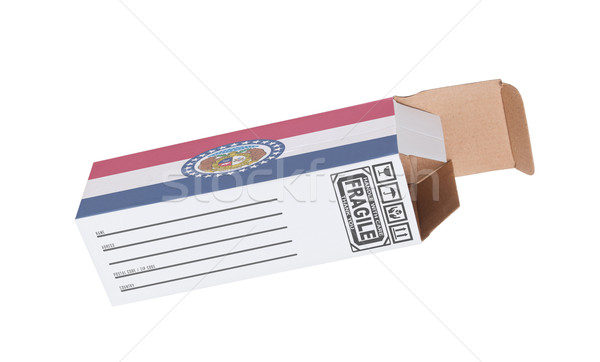 Foto stock: Exportar · produto · Missouri · papel · caixa