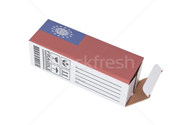 Eksport produktu Myanmar papieru polu Zdjęcia stock © michaklootwijk