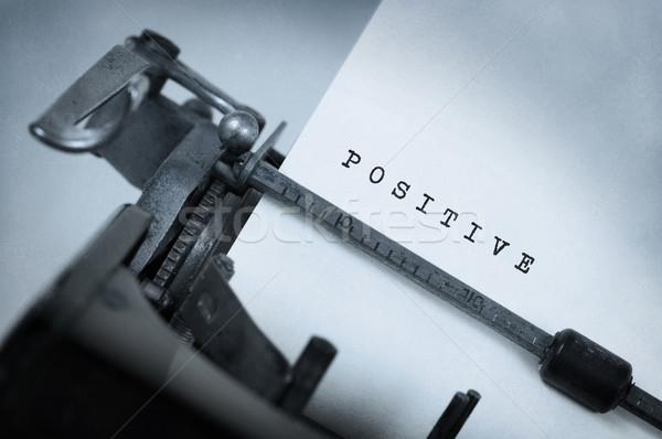 Stok fotoğraf: Bağbozumu · daktilo · eski · paslı · pozitif