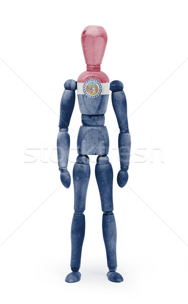 Wood figure mannequin with US state flag bodypaint - Missouri Stock photo © michaklootwijk