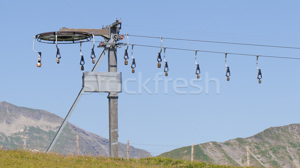Stockfoto: Alpen · entertainment · zomer · Zwitserland · ski · retro