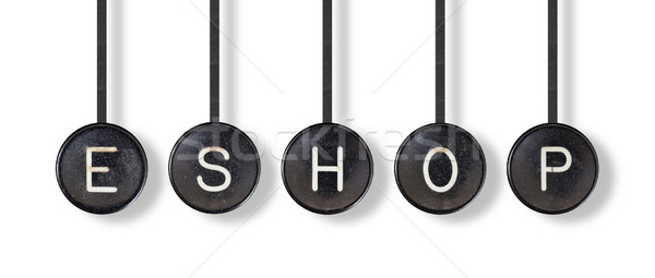 Typewriter buttons, isolated - Eshop Stock photo © michaklootwijk