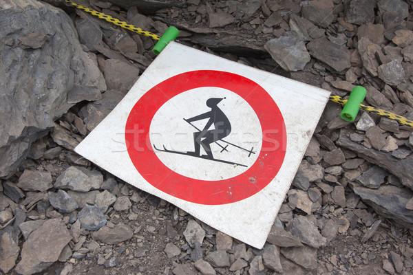 No ski sign Stock photo © michaklootwijk