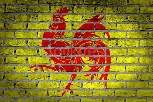 Dark brick wall - Wallonia Stock photo © michaklootwijk
