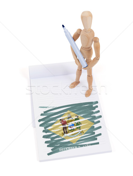Wooden mannequin made a drawing - Delaware Stock photo © michaklootwijk