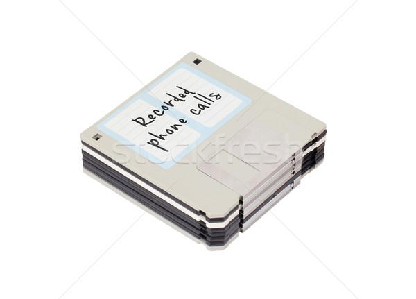 Сток-фото: диск · прошлое · изолированный · белый · телефон · технологий