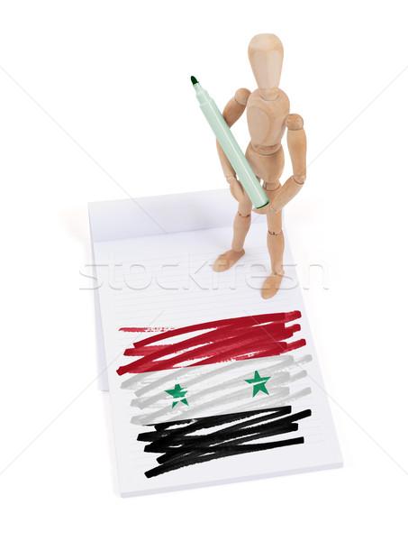 木製 マネキン 図面 シリア フラグ 紙 ストックフォト © michaklootwijk
