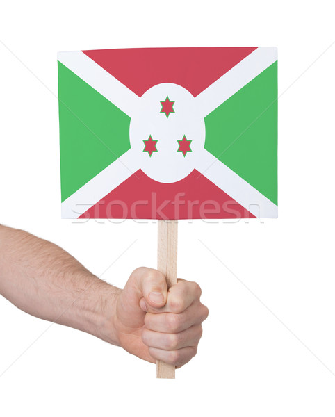 Mão pequeno cartão bandeira Burundi Foto stock © michaklootwijk