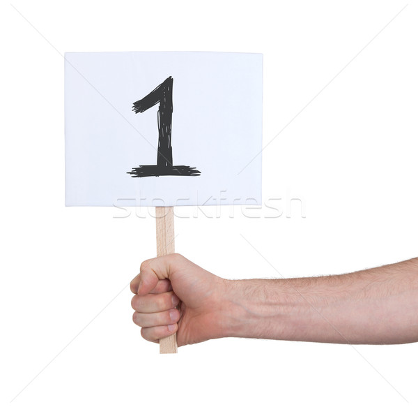 Sign with a number, 1 Stock photo © michaklootwijk