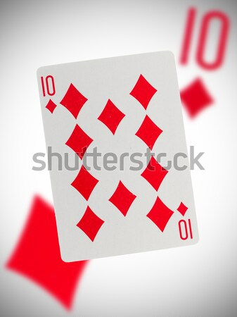 Old playing cards (royal flush)  Stock photo © michaklootwijk
