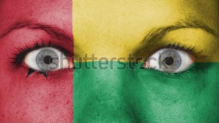 Huilen vrouw pijn verdriet vlag Kameroen Stockfoto © michaklootwijk