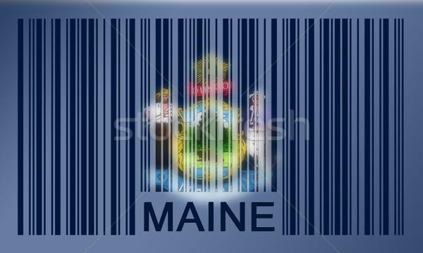Vonalkód zászló Maine festett felület terv Stock fotó © michaklootwijk