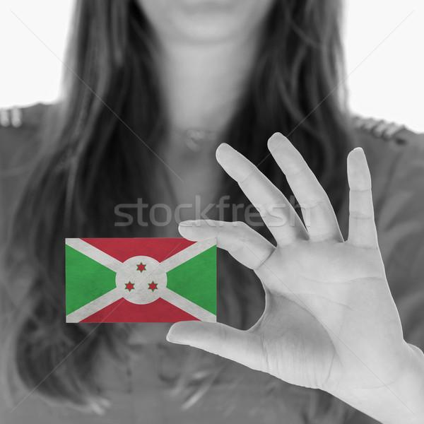 Mulher cartão de visita preto e branco Burundi espaço Foto stock © michaklootwijk