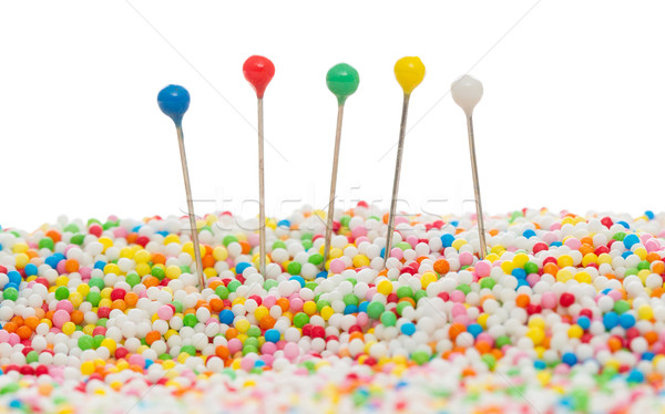 Straight pins in candy Stock photo © michaklootwijk