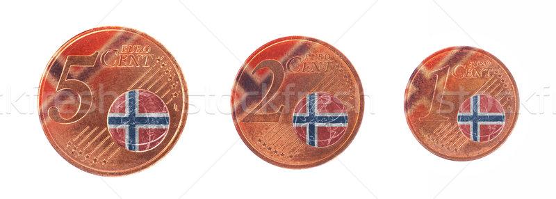 ヨーロッパの 組合 フラグ ノルウェー お金 現金 ストックフォト © michaklootwijk