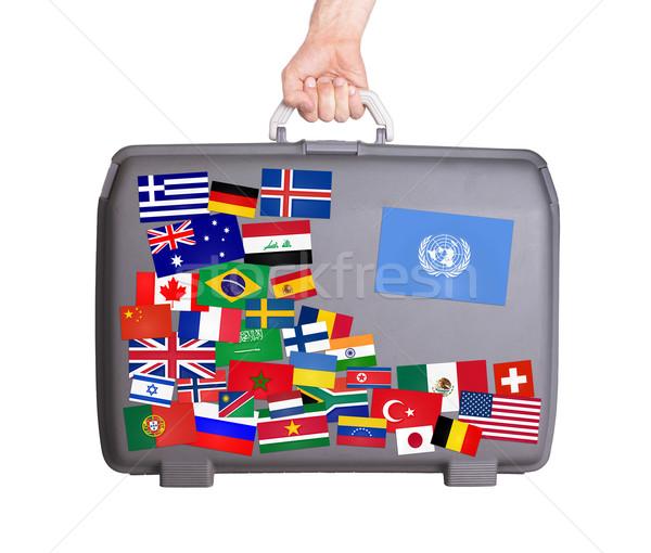 Usato plastica valigia piccolo Foto d'archivio © michaklootwijk