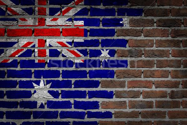 Donkere muur Australië textuur vlag geschilderd Stockfoto © michaklootwijk
