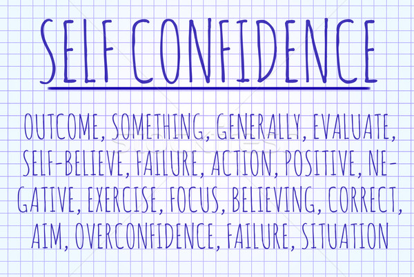 Self confidence word cloud Stock photo © michaklootwijk