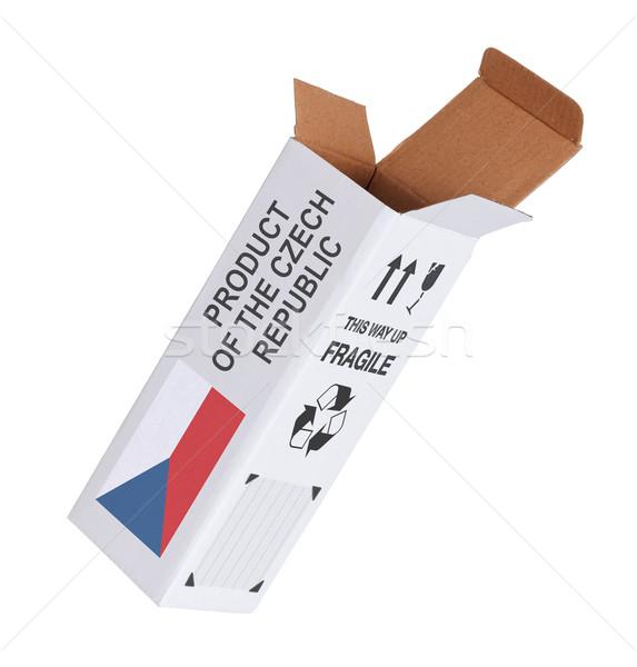 Exportar produto República Checa papel caixa Foto stock © michaklootwijk