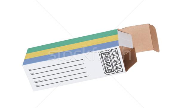 экспорт продукт Габон бумаги окна Сток-фото © michaklootwijk