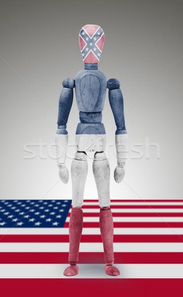 Ahşap anlamaya manken bayrak Mississipi eski ahşap Stok fotoğraf © michaklootwijk