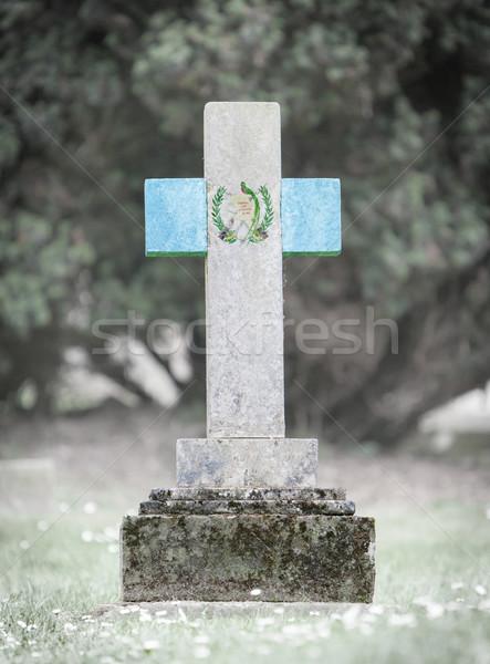 墓石 墓地 グアテマラ 古い 風化した フラグ ストックフォト © michaklootwijk