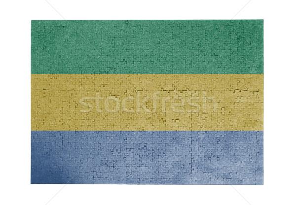 большой 1000 частей Габон флаг Сток-фото © michaklootwijk