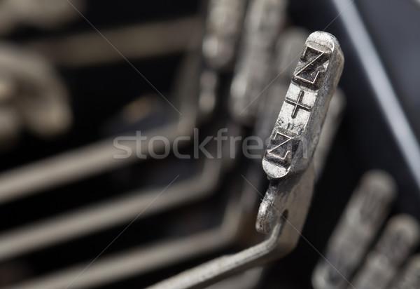 Z hammer - old manual typewriter Stock photo © michaklootwijk