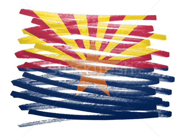 флаг иллюстрация Аризона пер бизнеса краской Сток-фото © michaklootwijk