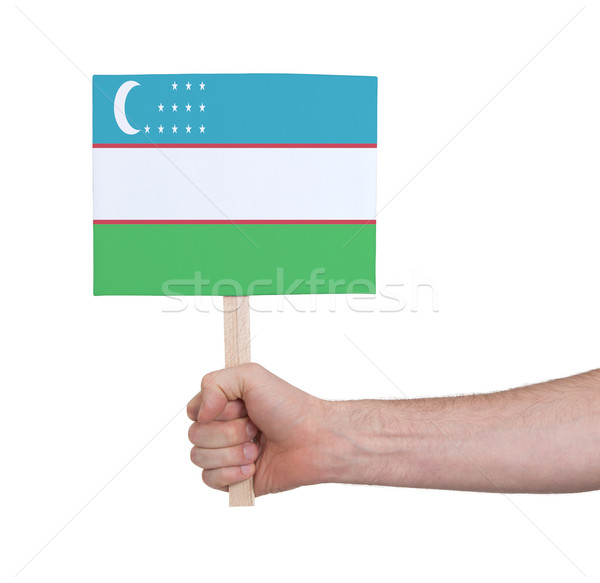 стороны небольшой карт флаг Узбекистан Сток-фото © michaklootwijk