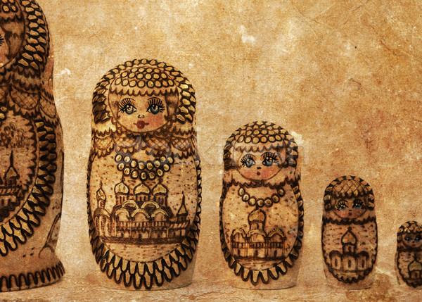 Russian wooden doll - Matryoshka - Vintage Stock photo © michaklootwijk