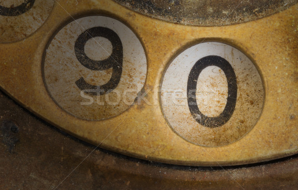 Close up of Vintage phone dial - 0 Stock photo © michaklootwijk