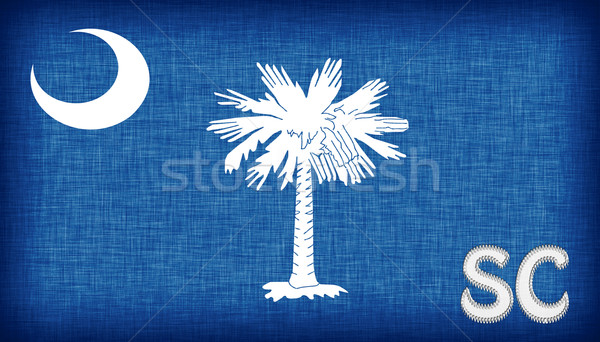 Stock photo: Linen flag of the US state of South Carolina