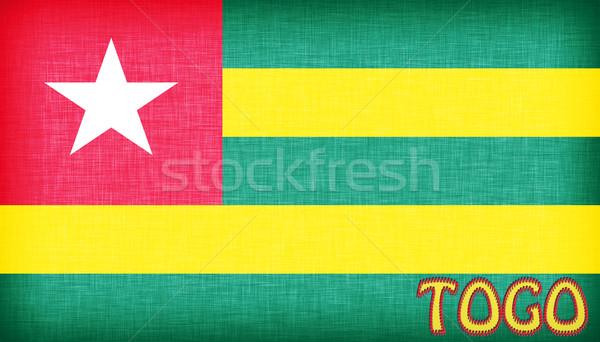 Bandiera Togo lettere lettera tessuto Foto d'archivio © michaklootwijk