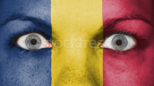 Ojos bandera pintado cara Rumania Foto stock © michaklootwijk