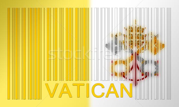 Código de barras bandeira Cidade do Vaticano pintado superfície projeto Foto stock © michaklootwijk
