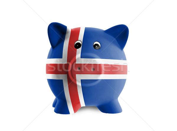 уникальный розовый керамической Piggy Bank изолированный Исландия Сток-фото © michaklootwijk