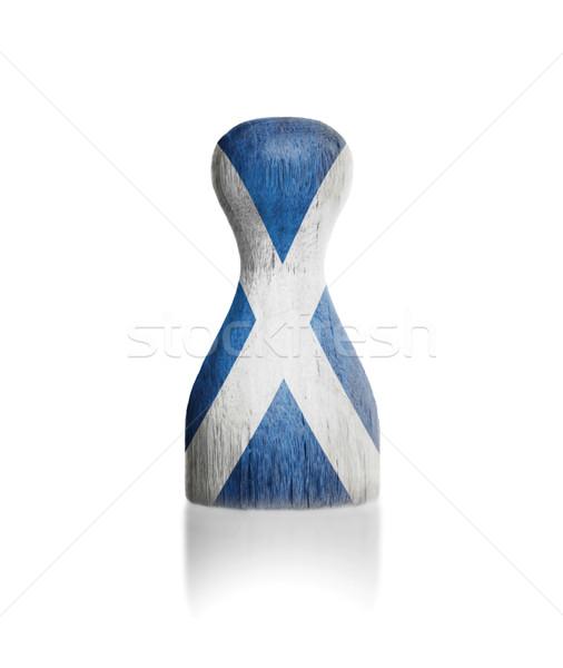 Peón pintura bandera Escocia pintura Foto stock © michaklootwijk