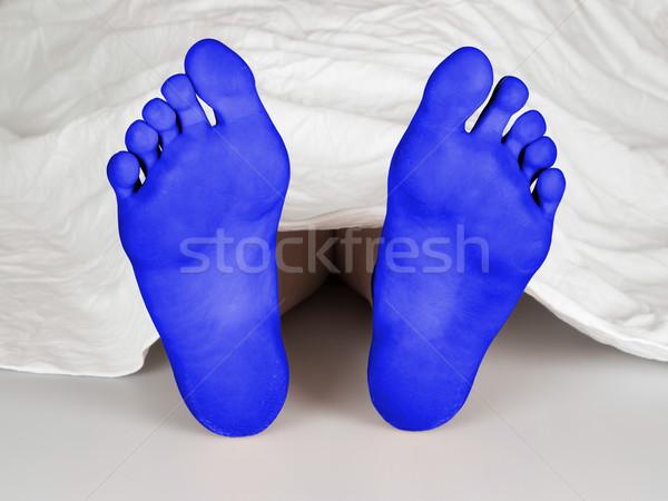 Lichaam vel witte zelfmoord slapen moord Stockfoto © michaklootwijk