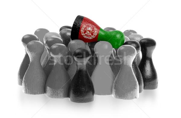 Egy egyedi gyalog felső zászló Afganisztán Stock fotó © michaklootwijk