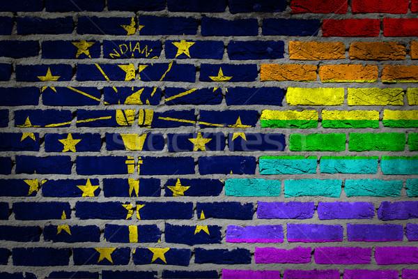 Donkere muur rechten Indiana textuur vlag Stockfoto © michaklootwijk