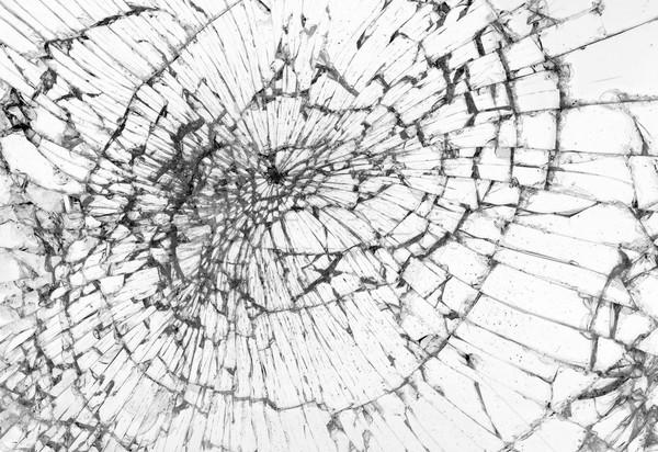 割れたガラス 白 暴力 車 フレーム 落書き ストックフォト © michaklootwijk