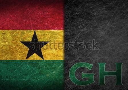 Flag burning - Ghana Stock photo © michaklootwijk