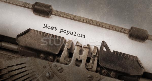 Bağbozumu daktilo eski paslı kullanılmış kâğıt Stok fotoğraf © michaklootwijk