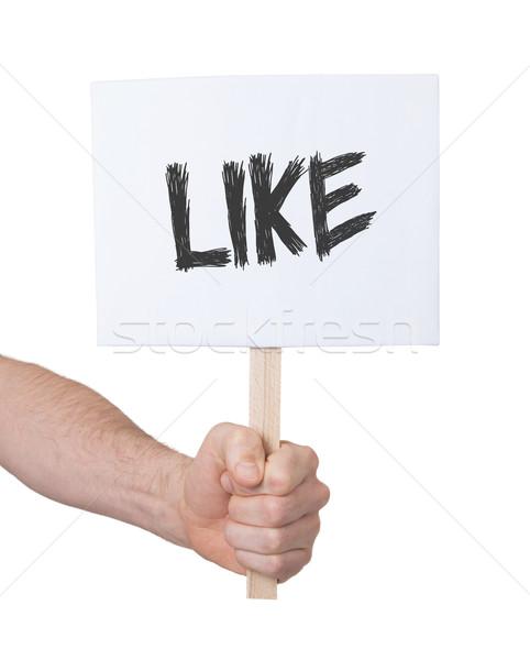 Stockfoto: Hand · teken · geïsoleerd · witte · internet