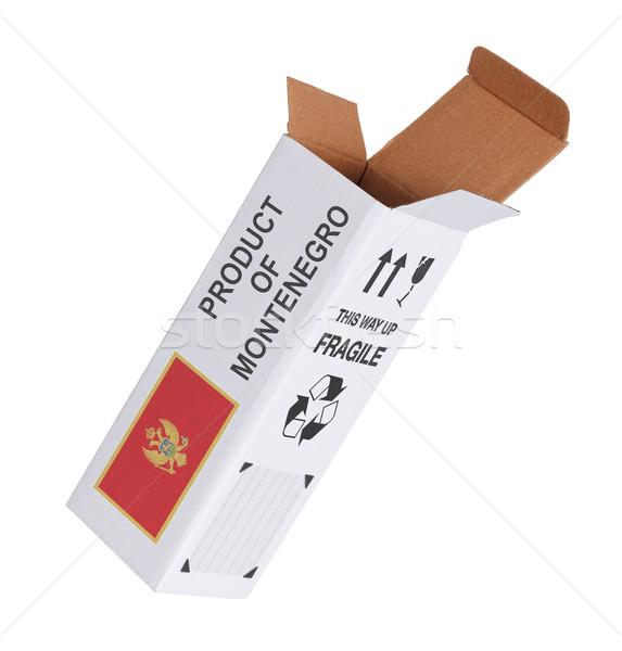 Concept of export - Product of Montenegro Stock photo © michaklootwijk