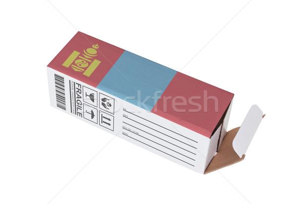 Export termék Mongólia kinyitott papír doboz Stock fotó © michaklootwijk